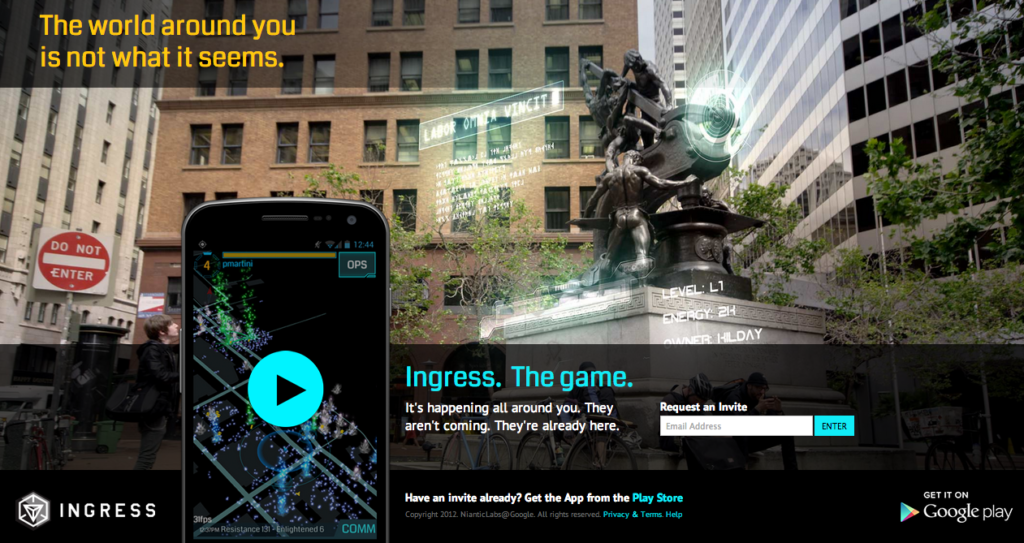 Ingress Augmented Reality App