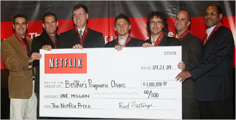 Netflix awarded $1 Million Prize to the winners