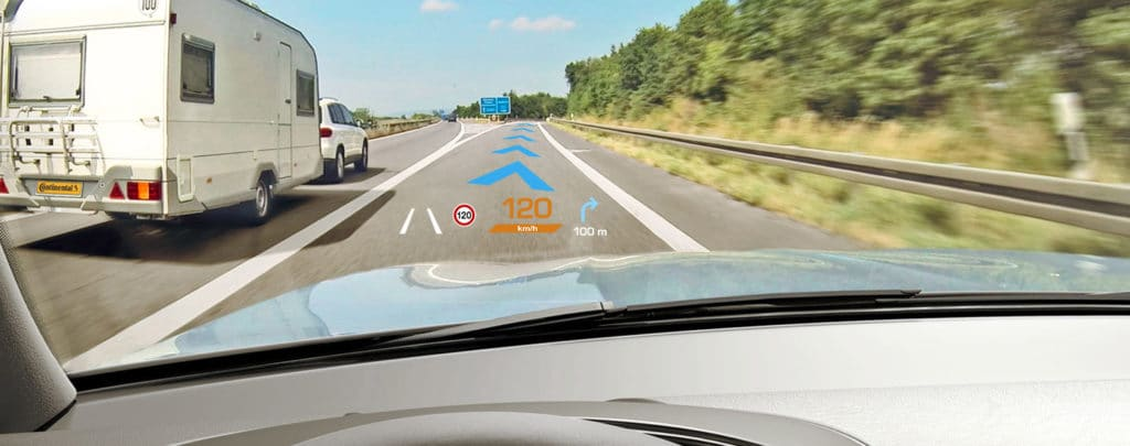 continental head up display ar