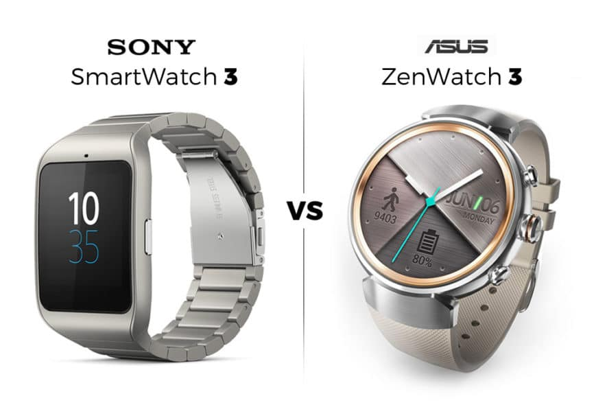 Sony SmartWatch 3 vs Asus ZenWatch 3
