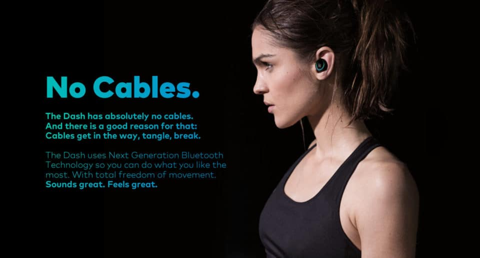 bragi dash wireless headphones
