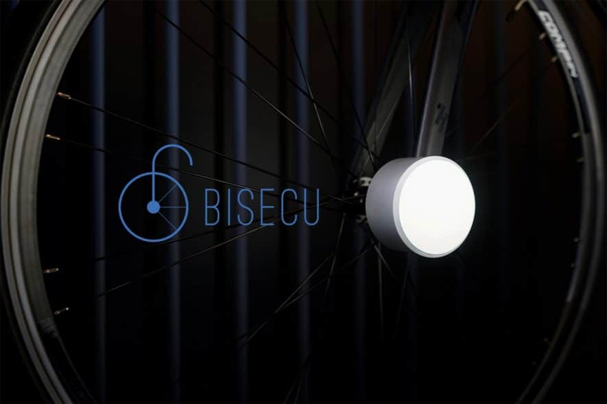 Bisecu Smart Bike Lock Close up
