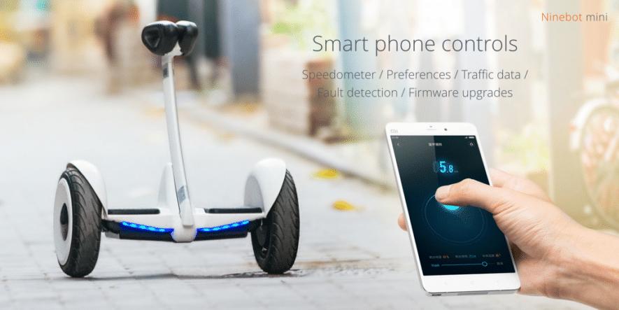 segway mini pro smartphone control