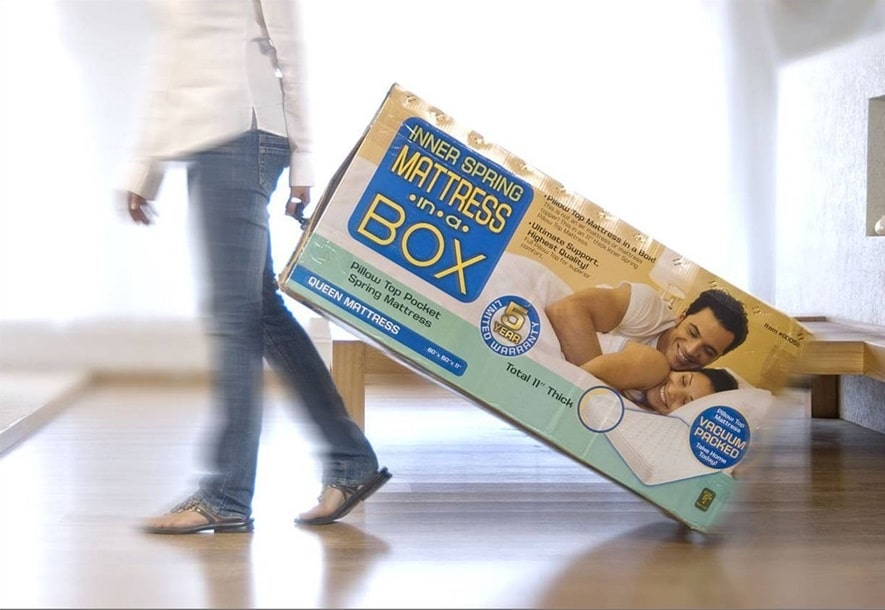 Bed In A Box performed best with an 83% customer rating