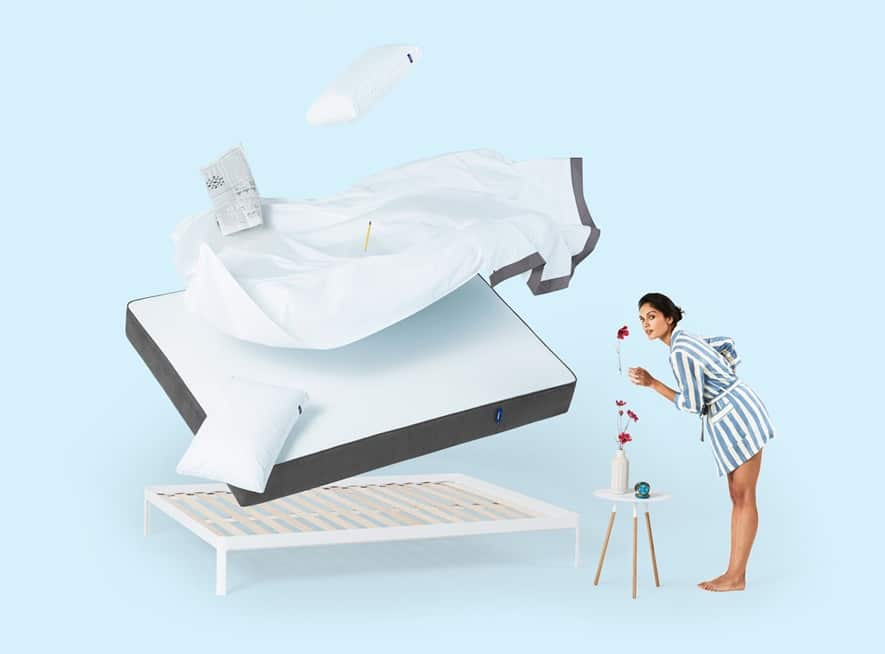 Casper uses more than one layer of glue chemicals to construct its multi-foam mattress
