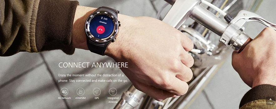 The smartwatch also includes heart-rate monitoring, and unlike most other smartwatches, the Watch 2 includes an LTE radio.