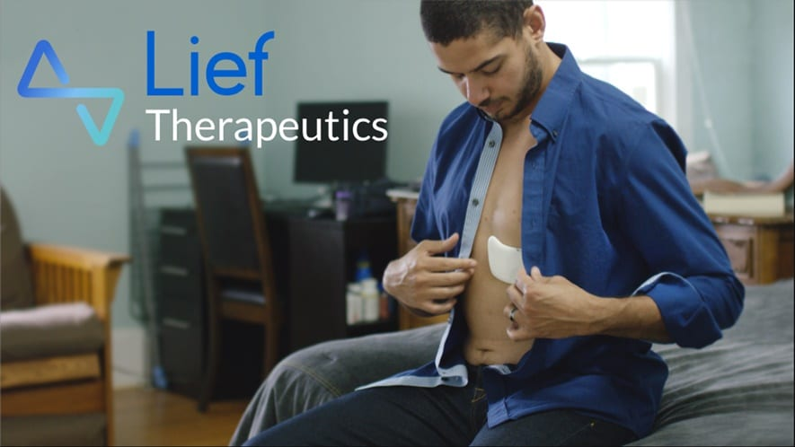 Lief patch reduces stress