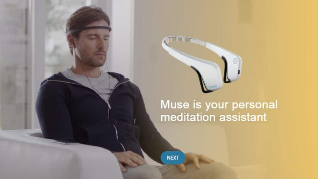 The brain sensing headband uses the real-time state of your brain to guide you through an effective meditation