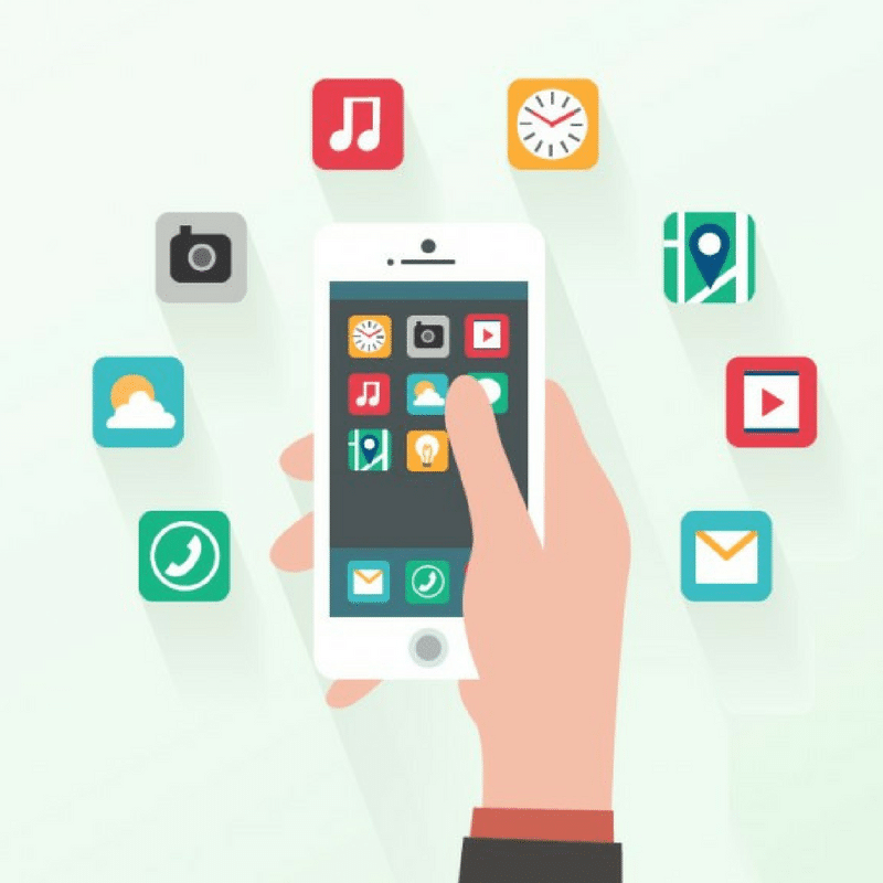 Smartphone Applications Infographic