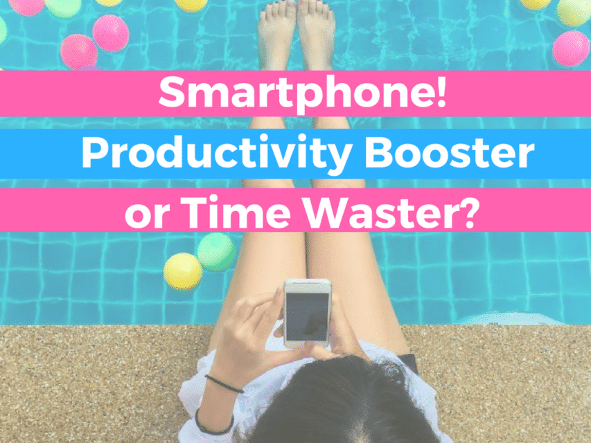Smartphone productivity booster time waster