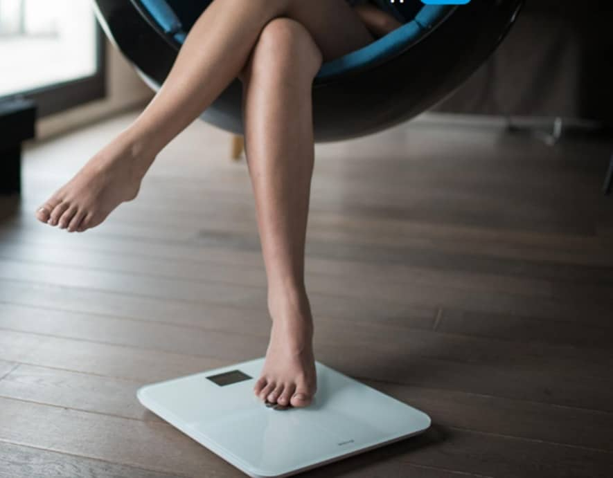 Withings scale measure BMI, heart rate, and fat percentage