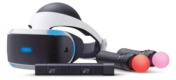 playstation vr headset with Camera and Motion Controllers