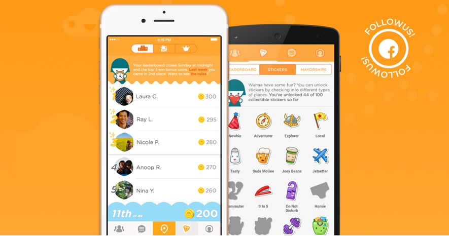 Location Sharing app Foursquare Swarm