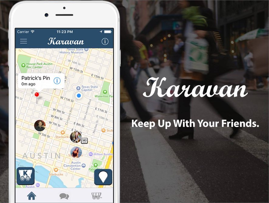 Karavan Group Location Sharing App