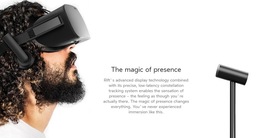 Oculus Rift is one of the preeminent virtual reality (VR) systems