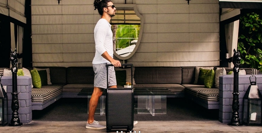 What sets Trunkster's smart suitcase apart from other smart luggage is the way you open it.