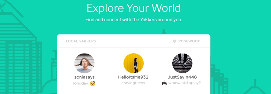location sharing app Yik Yak
