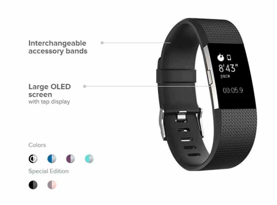 Fitbit OLED screen