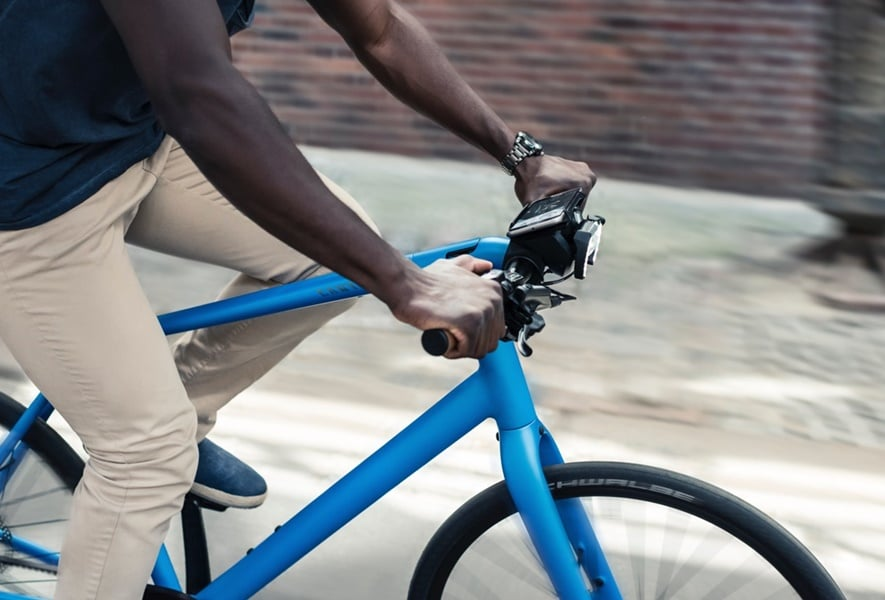 Unlike the aforementioned devices, Cobi invites you to mount your smartphone to your device on the handlebar