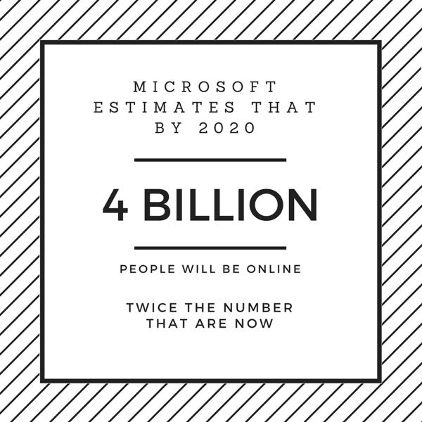 4 Billion People Online Microsoft