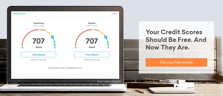 Credit Karma provides registered users with personalized recommendations, based on current accounts and credit score