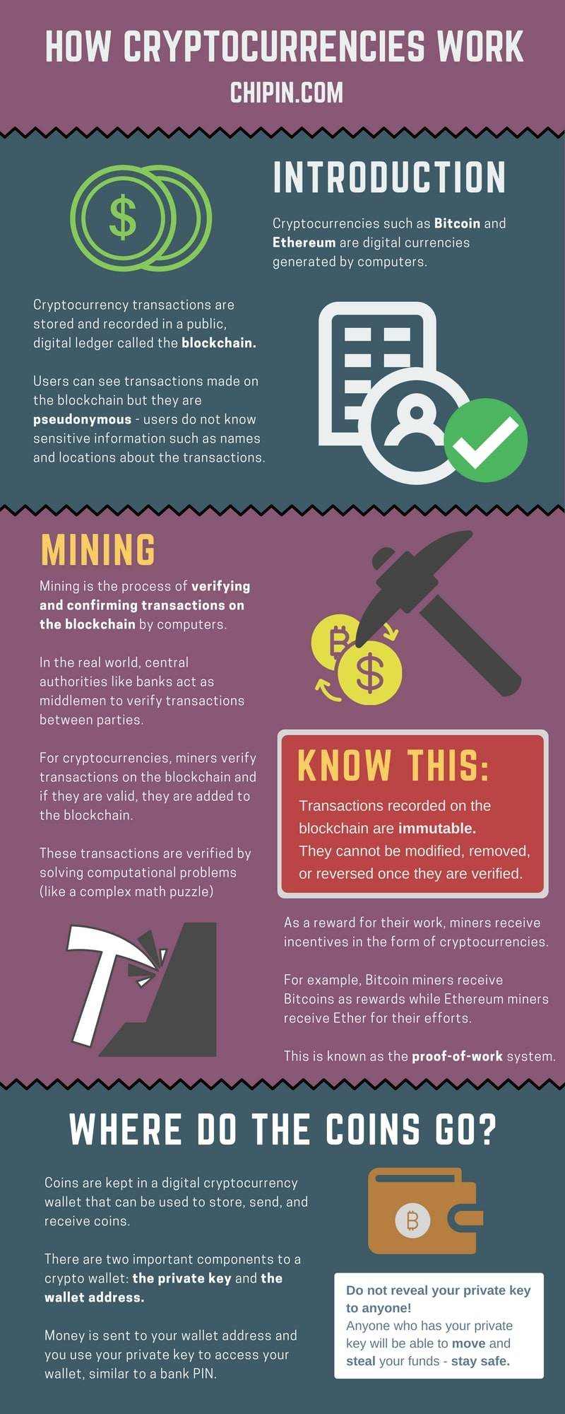 How Cryptocurrencies Work Infographic