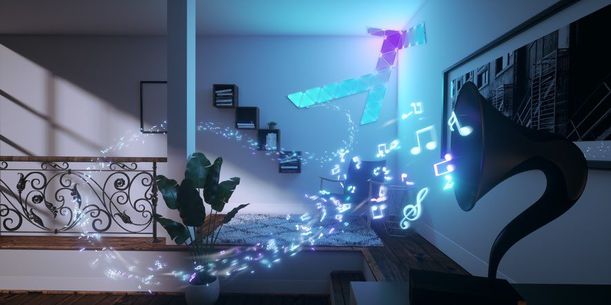 Nanoleaf rhythm music visualizer transforms sound into displays of
