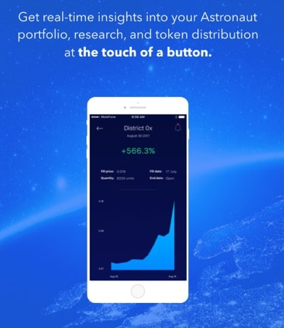 astronaut app overview portfolio