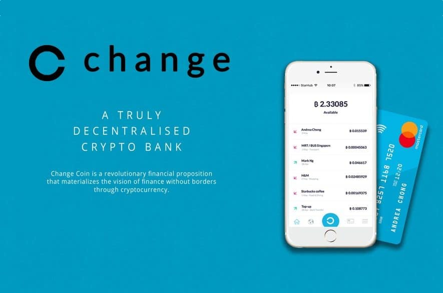 change bank ico decentralized global crypto bank