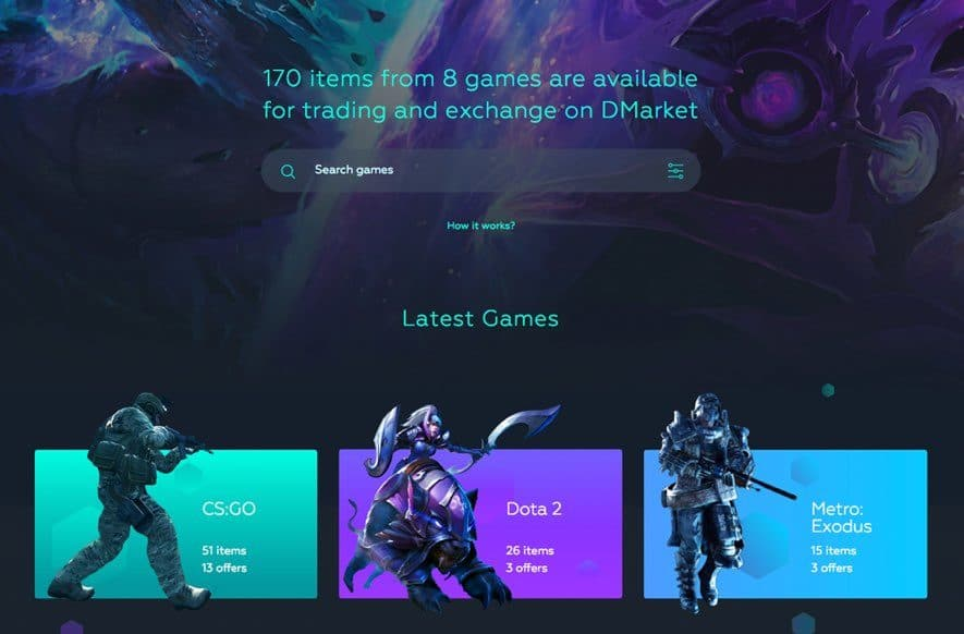 dmarket alpha demo launch