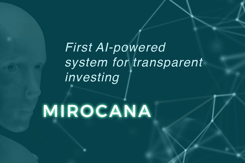 First-AI powered system for transparent investing Blockchain