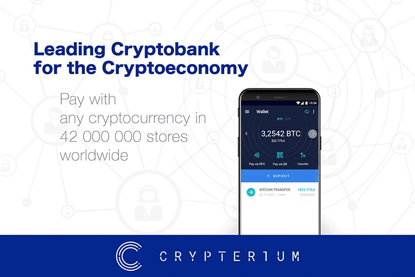 Crypterium Cryptocurrency digital blockchain