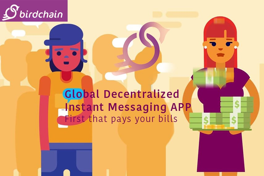 Birdchain Messaging App blockchain