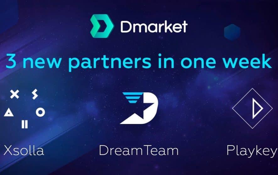 dmarket 3 new partnerships