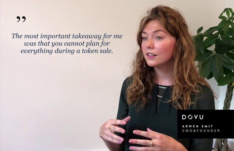 dovu cmo arwen smit post ico interview