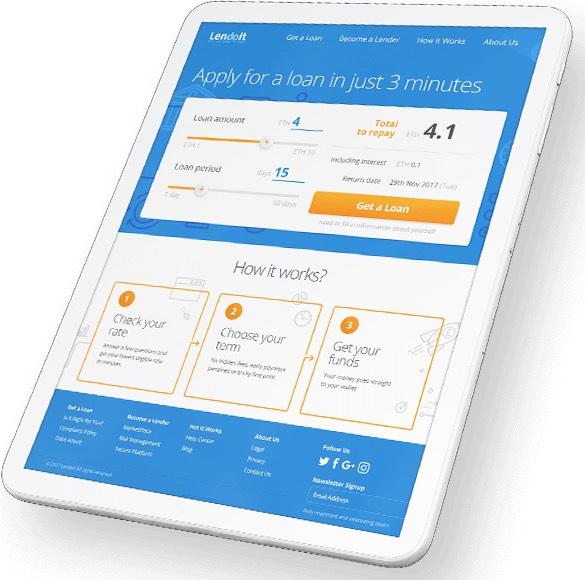 lendoit apply loan blockchain
