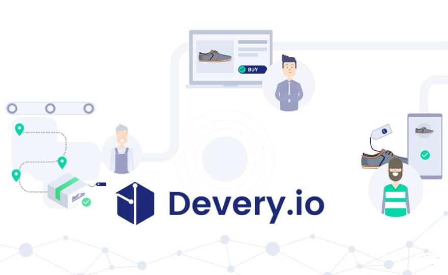 devery ico supply chain blockchain