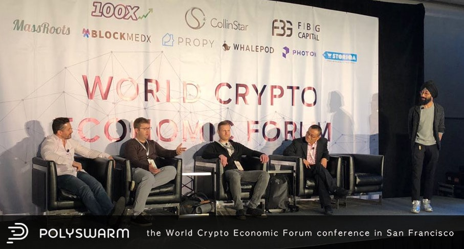 the World Crypto Economic Forum conference in San Francisco