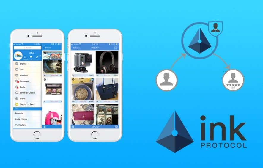 ink protocol ico p2p marketplace