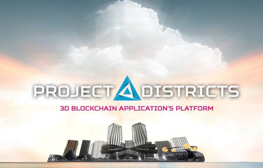 project districts ico blockchain 3d application augmented reality