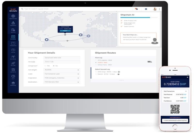 shipchain ico desktop mobile