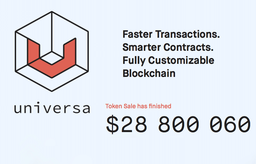 universa ico successful highlights