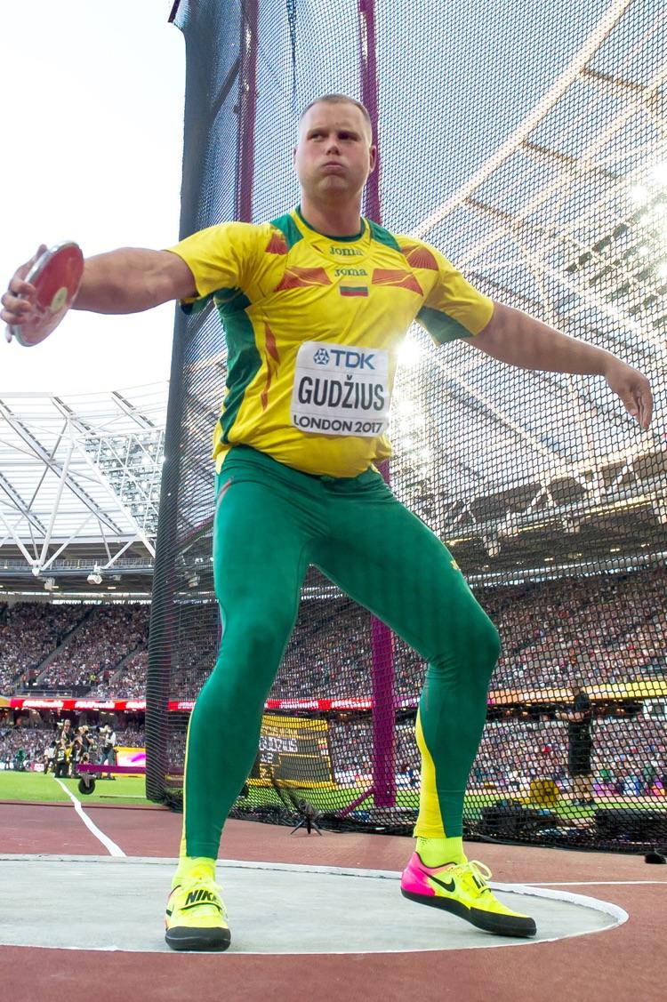 World Champion discus thrower and Rio Olympian Andrius Gudžius