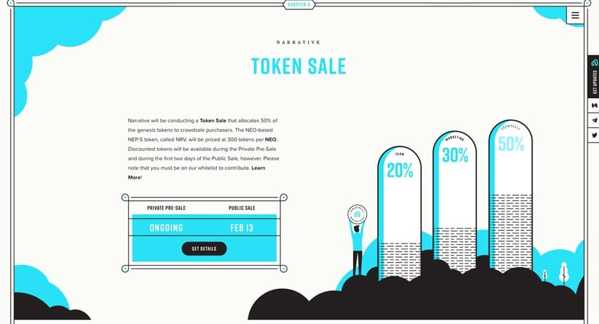 narrative network token sale