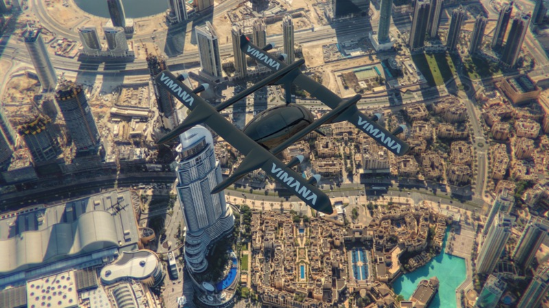 vimana global test flight dubai