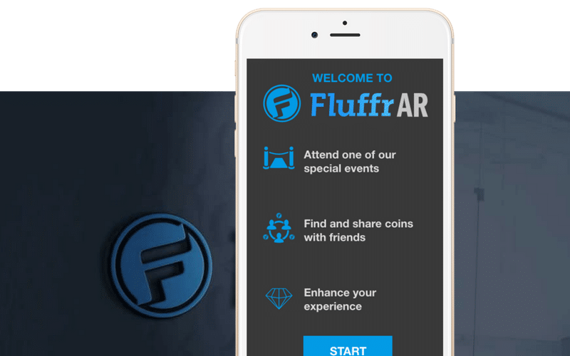 FluffAR augmented reality phone