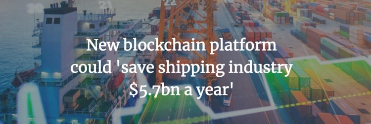 blockshipping platform saving billions