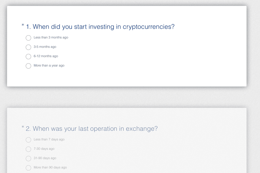 cryptocurrency survey