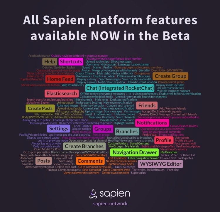 sapien beta features