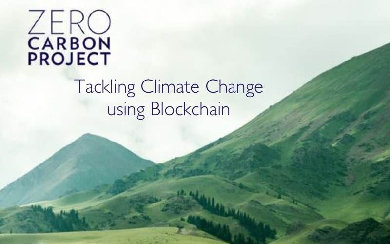 zerocarbonproject tackling climate change blockchain